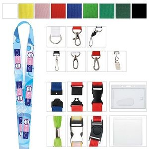 "3/4"" Universal Source™ Polyester 4 Color Lanyard"