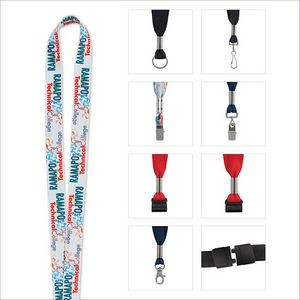 "¾"" Good Value® Fine Print Lanyard"